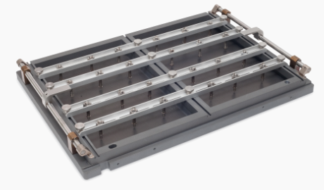 Carrier with downholder frame for master cards and special applications